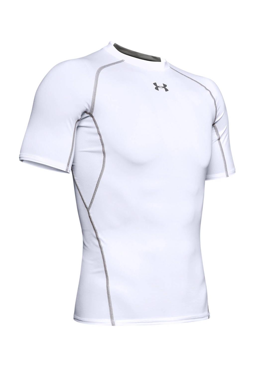 Under Armour   sport T-shirt, Wit/grijs