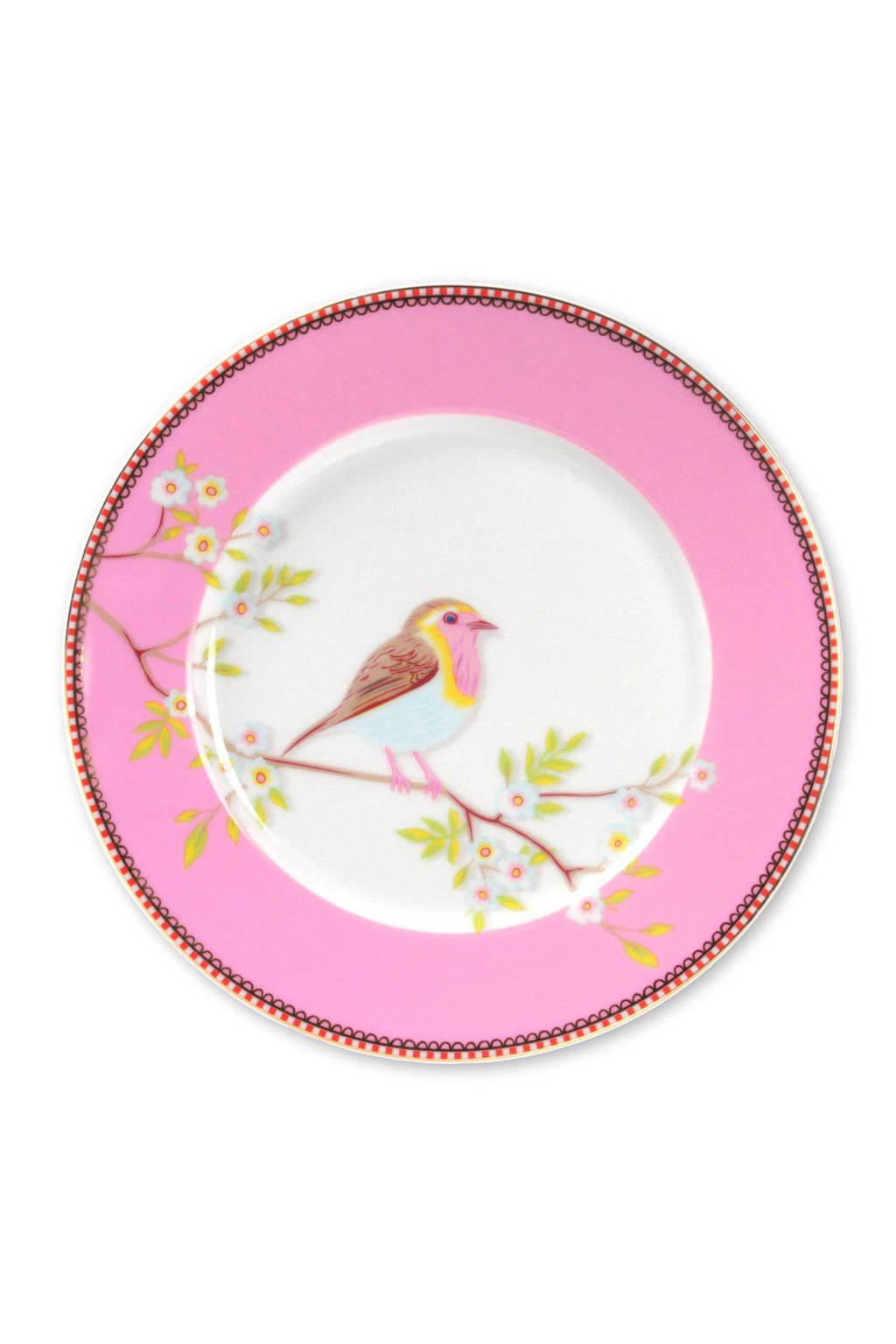 Pip Studio Floral ontbijtbord (Ø21 cm), Roze