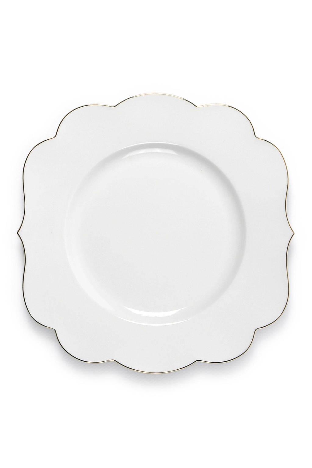 Pip Studio Royal White ontbijtbord (Ø23 cm), Wit