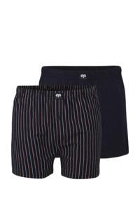 Ceceba +size boxershort (set van 2), Blauw/rood/wit