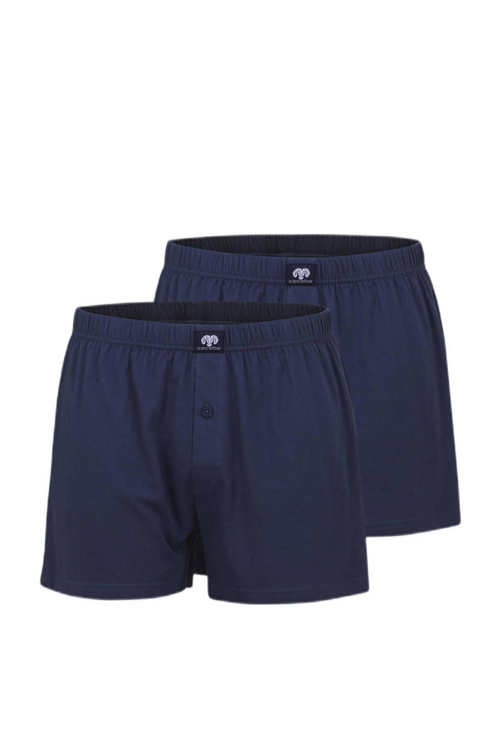 Ceceba +size boxershort (set van 2), Blauw