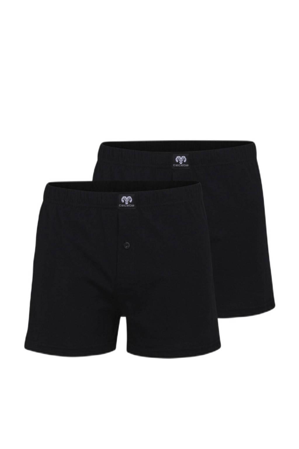 Ceceba +size boxershort (set van 2), Zwart