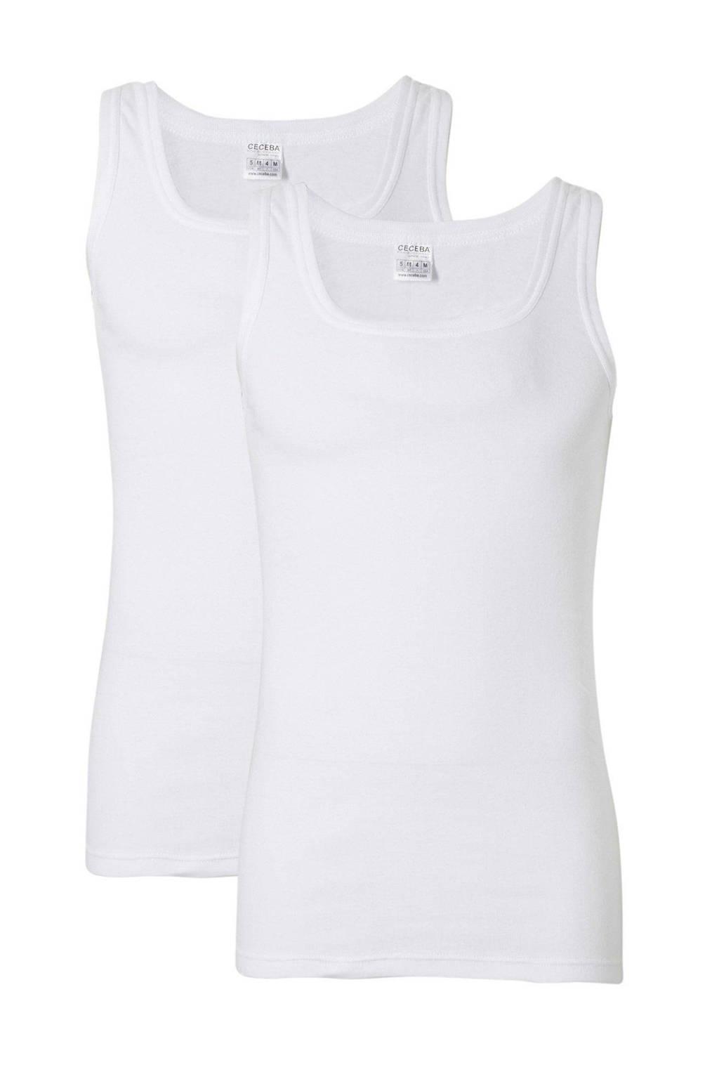 Ceceba +size hemd (set van 2), Wit
