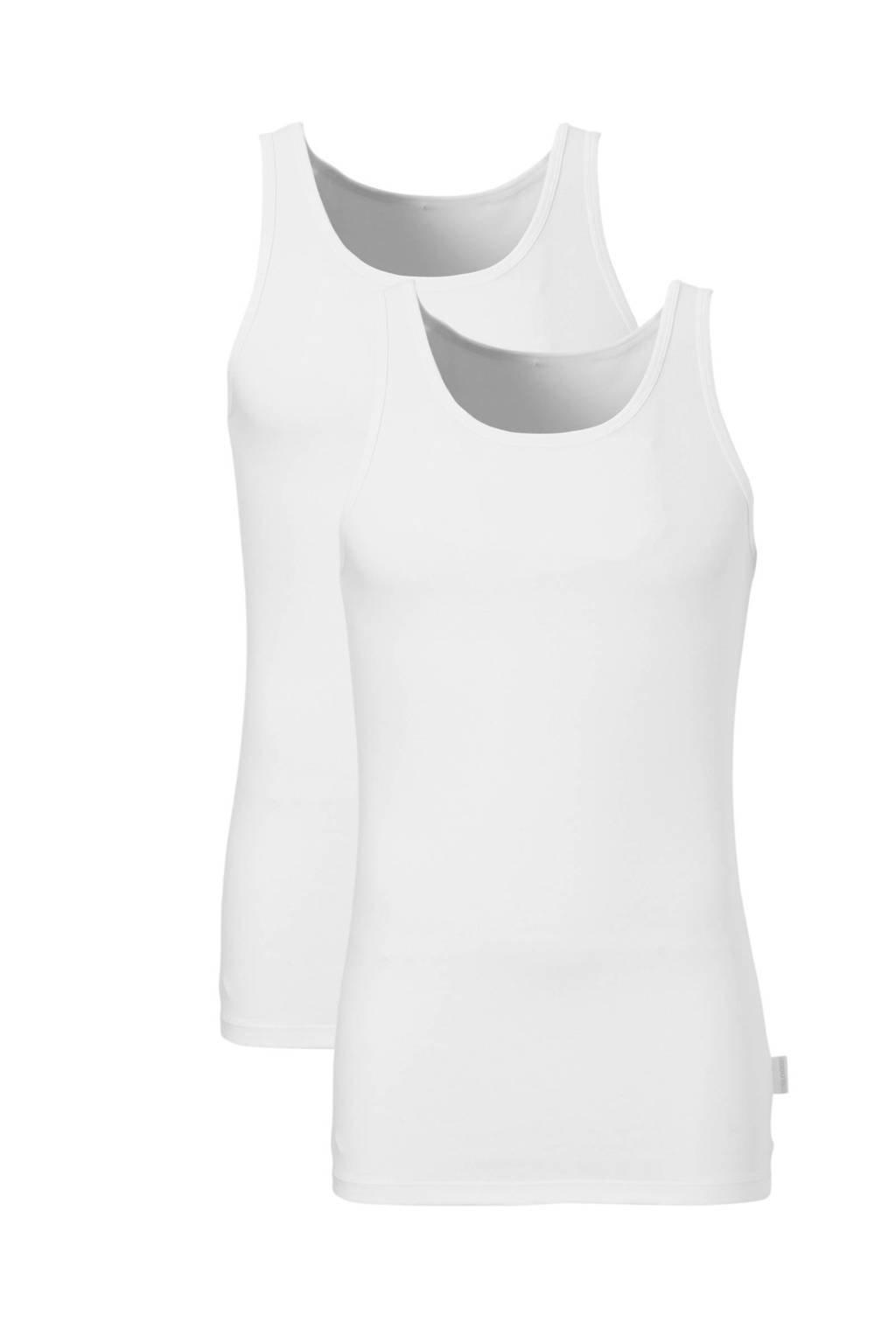 Sloggi Men Basic hemd (set van 2) wit, Wit