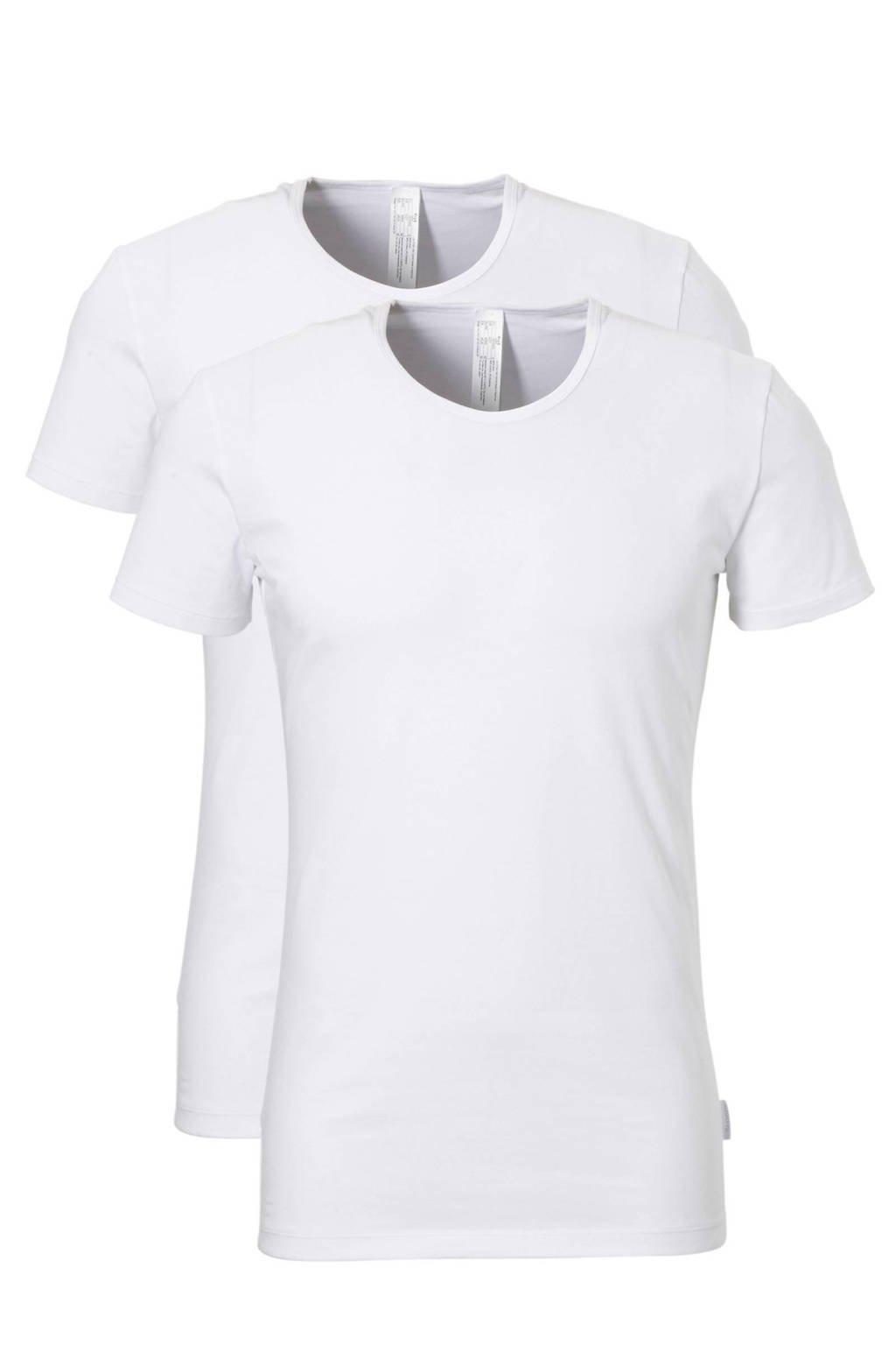 Sloggi Men Basic T-shirt (set van 2) wit, Wit