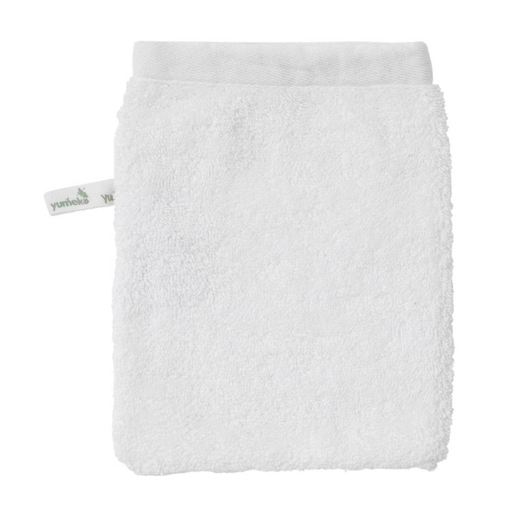 Yumeko washand biologisch katoen (set van 4), Wit