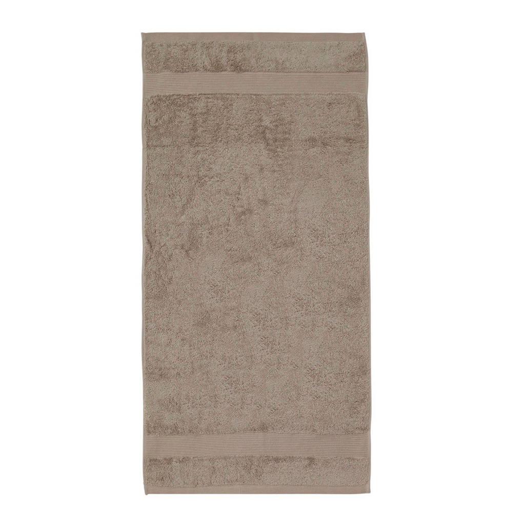 Yumeko handdoek biologisch katoen (set van 2), Taupe, Biologisch katoen