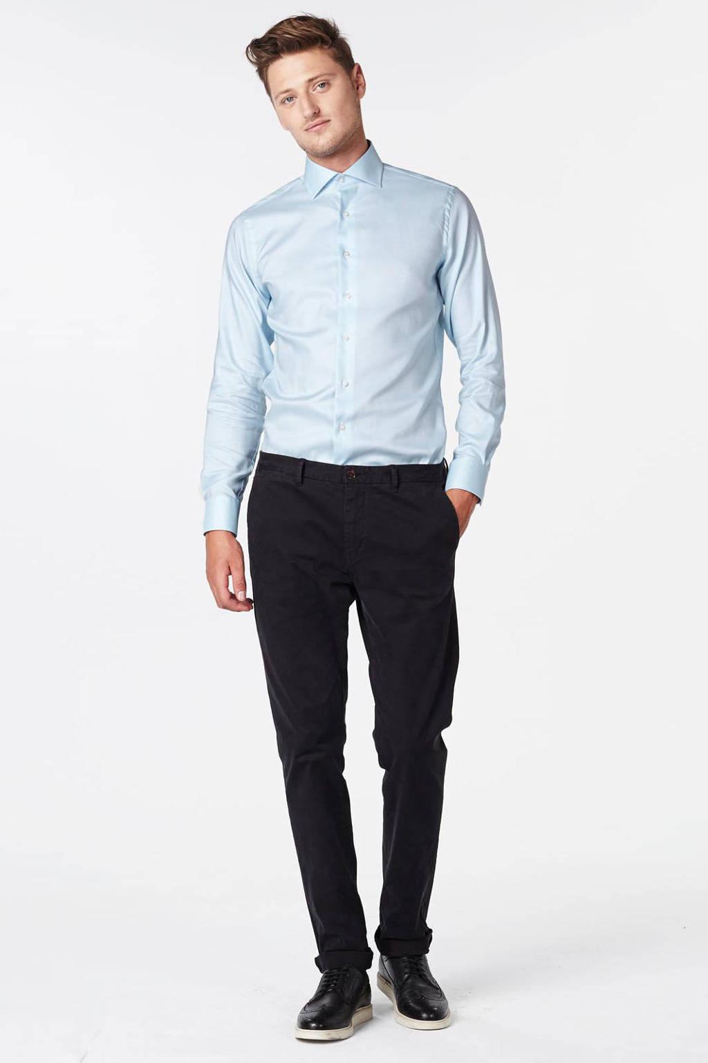 Michaelis slim fit overhemd, Lichtblauw