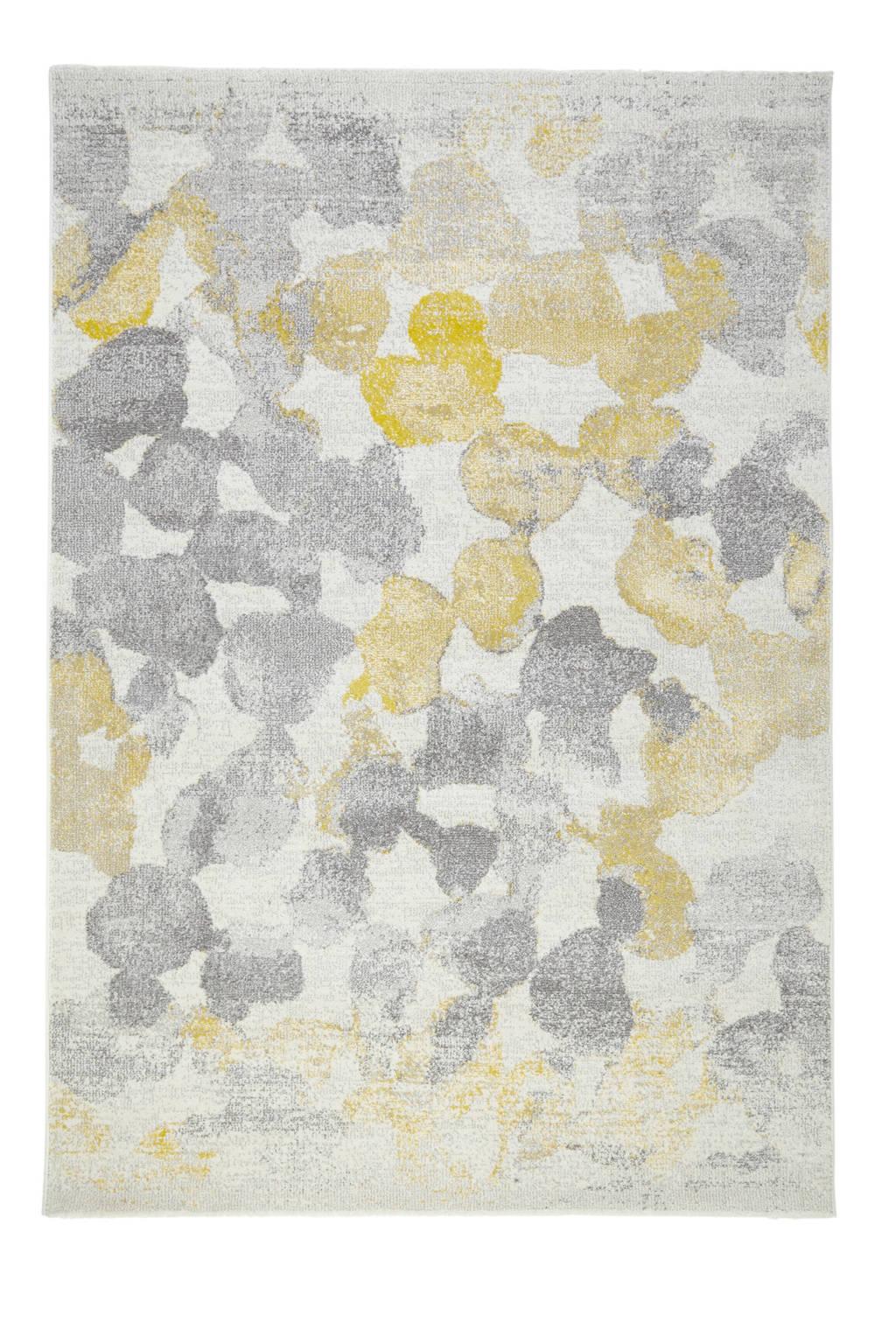 whkmp's own Vloerkleed  (230x160 cm), Wit/geel/grijs