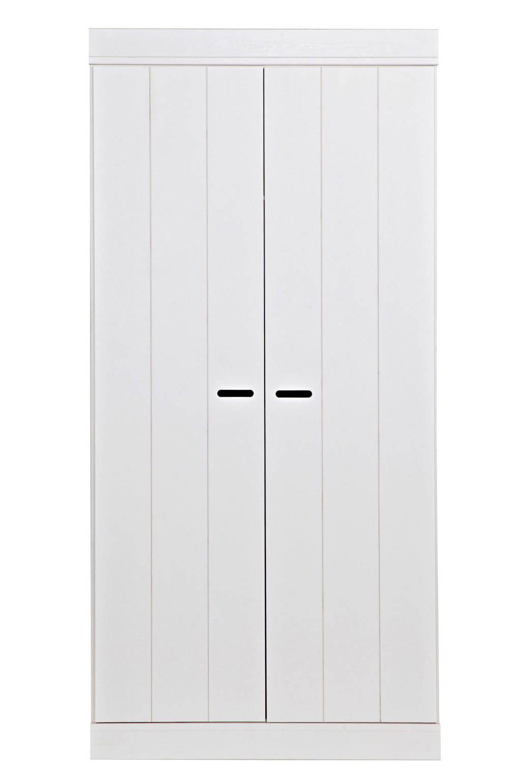 Woood 2-deurs kledingkast Connect, Wit