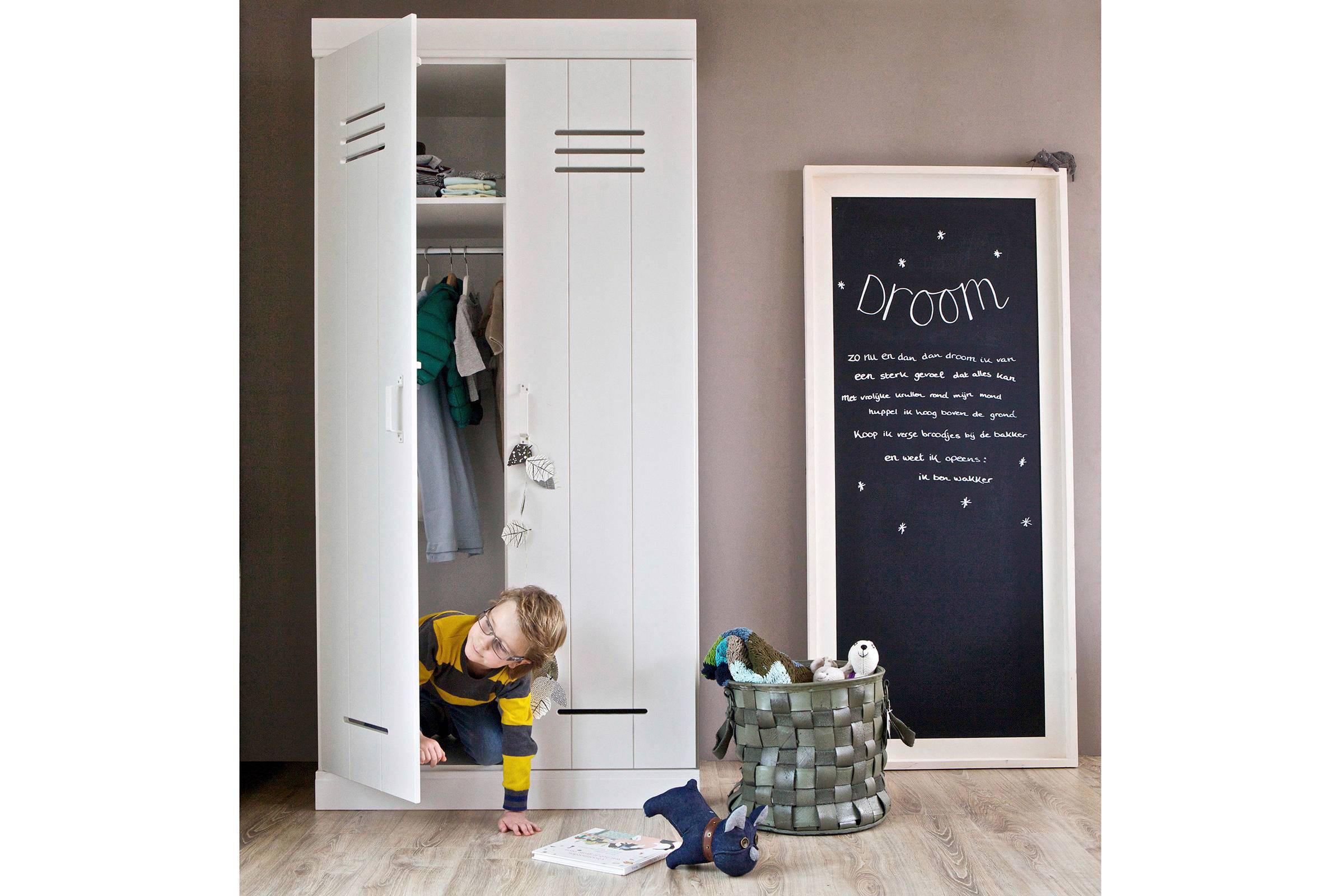 Woood 2 deurs kledingkast connect wehkamp