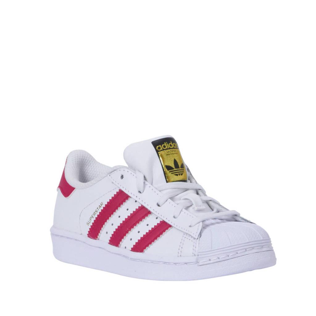 8346b365a3f adidas originals sneakers Superstar Foundation C, Wit/roze
