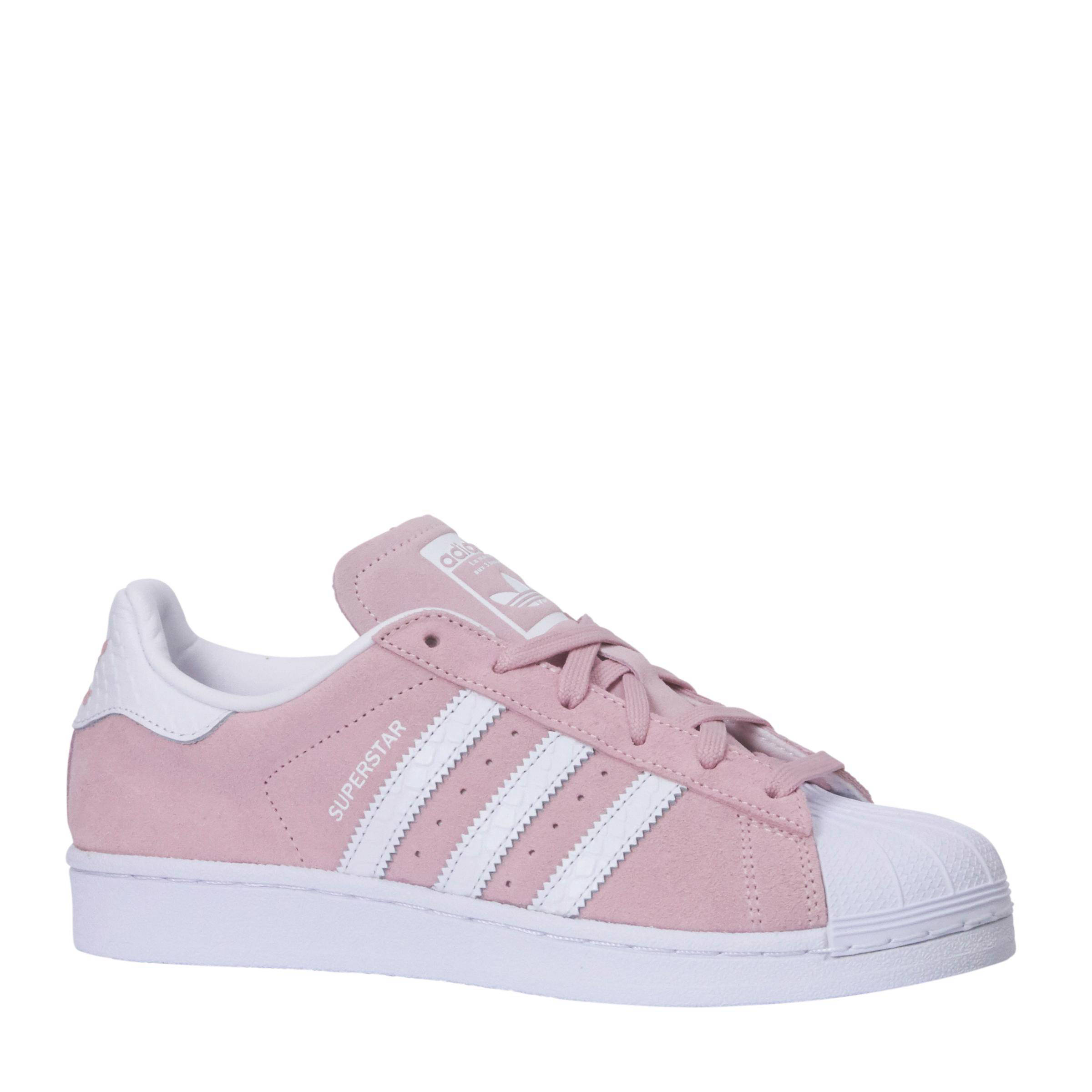 adidas superstar w schoenen roze