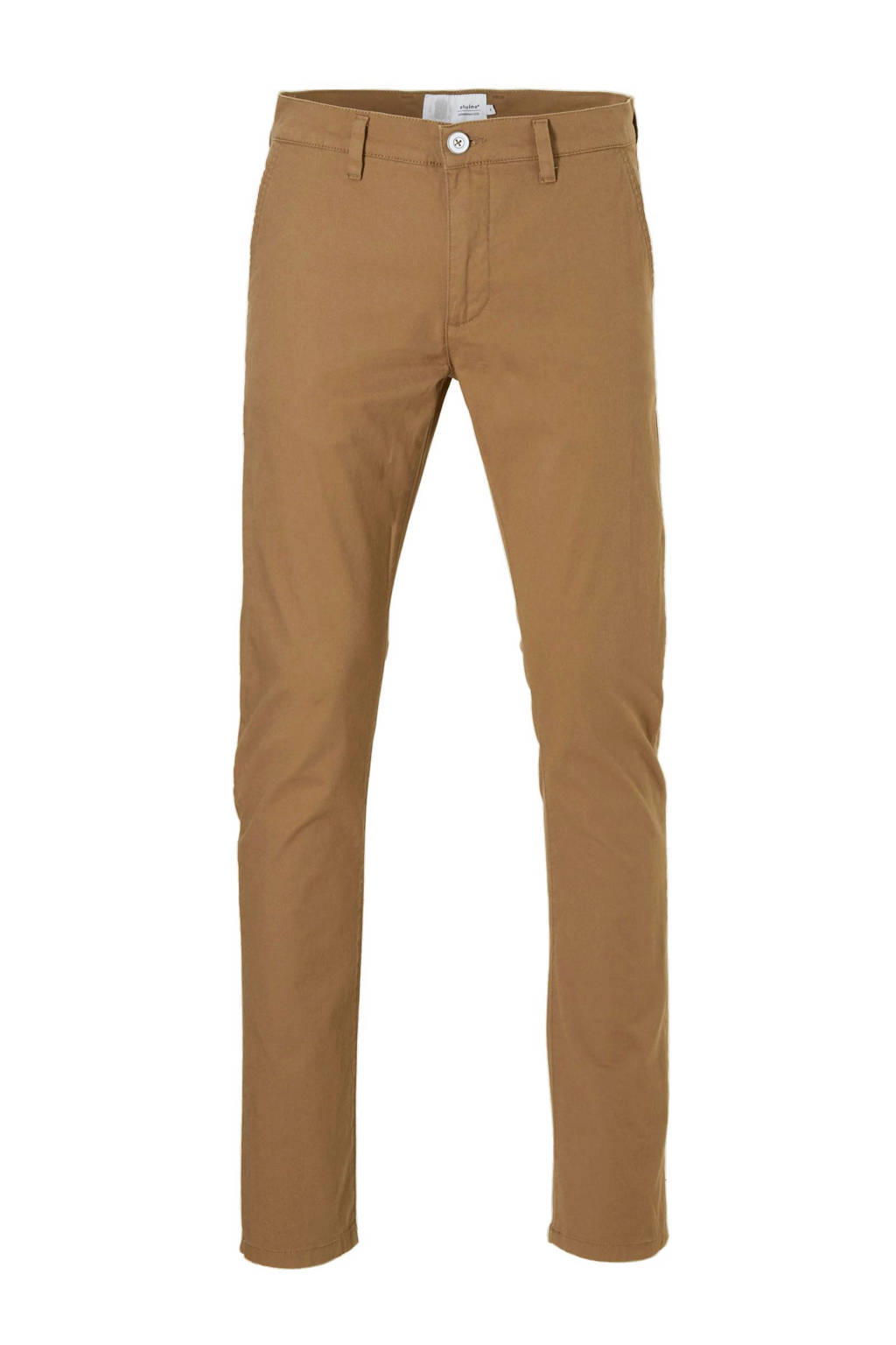 Elvine slim fit chino, Zand