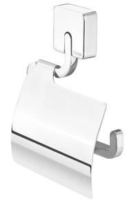 Tiger Impuls toiletrolhouder met klep  zilver, Zilver