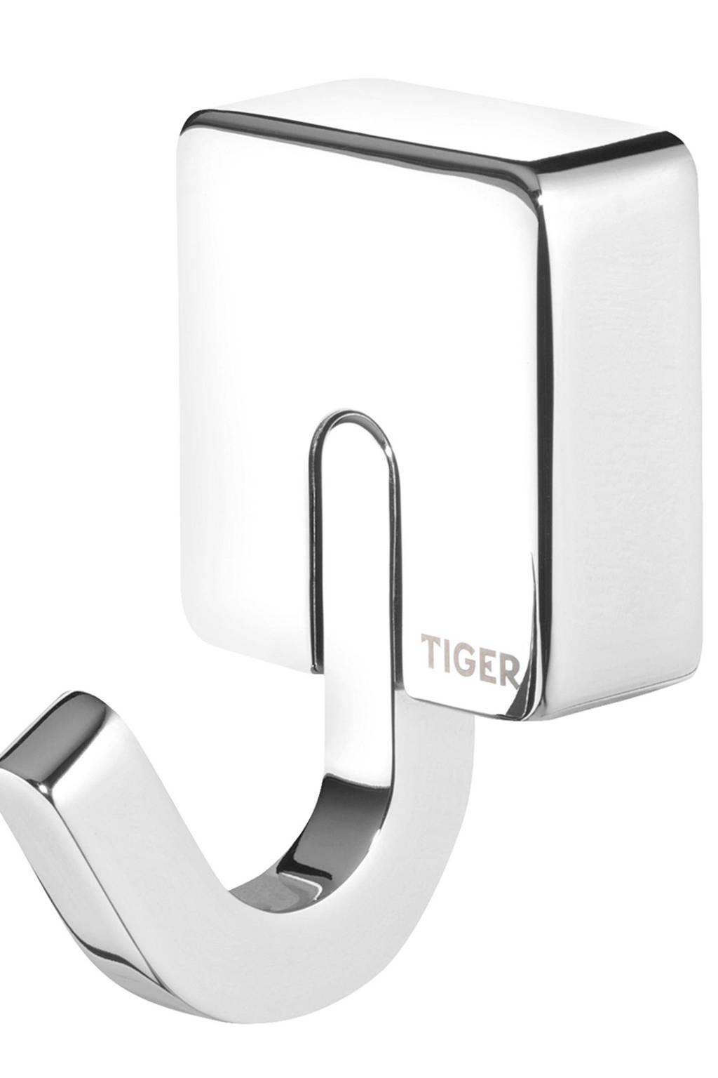 Tiger Impuls handdoekhaak  zilver, Zilver