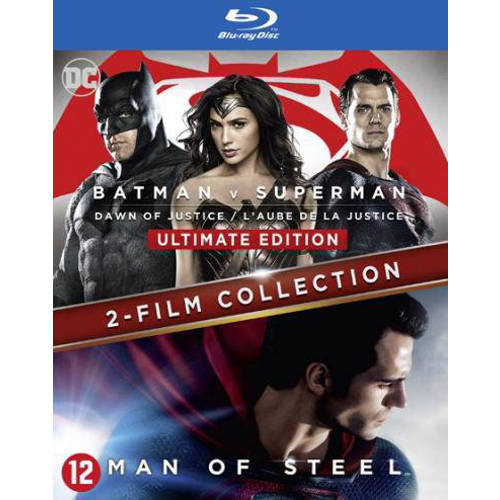 Batman v Superman - Dawn of justice + Man of steel (Blu-ray) kopen