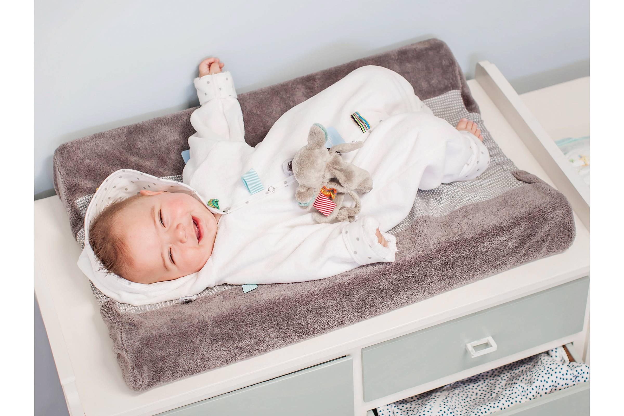 Snoozebaby happy dressing aankleedkussenhoes storm grey wehkamp