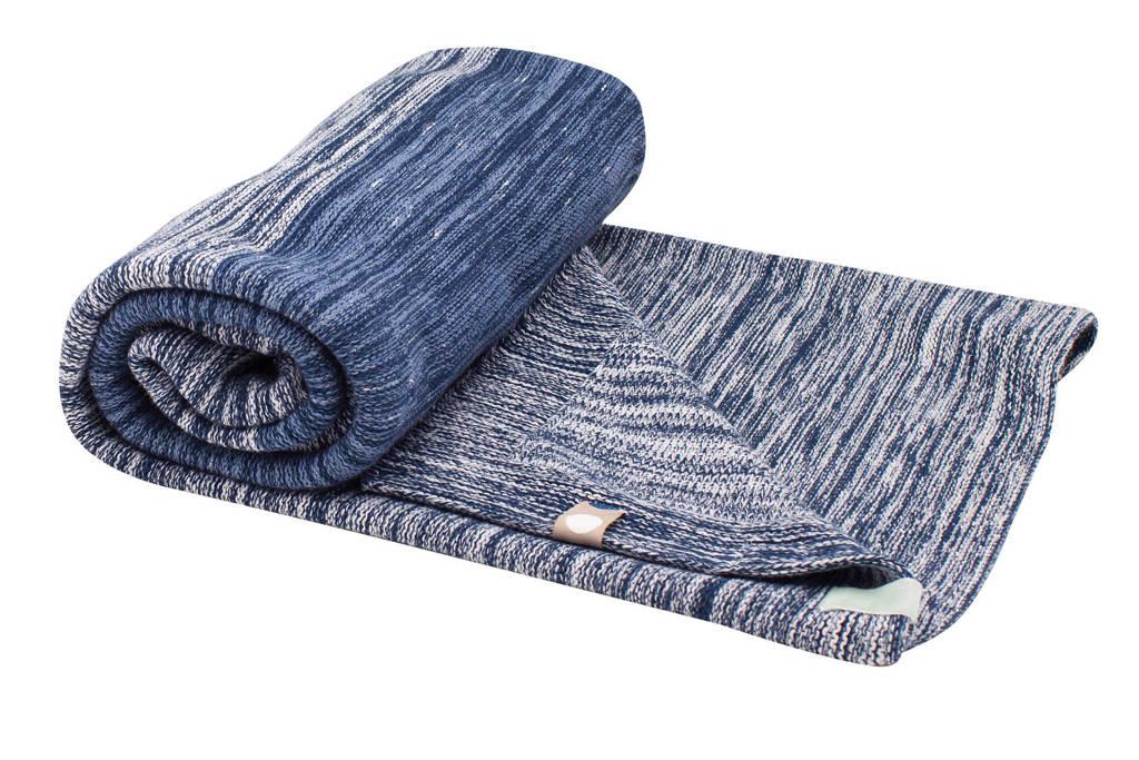 Snoozebaby Stylish Cocooning ledikantdeken 100x150 cm indigo blue