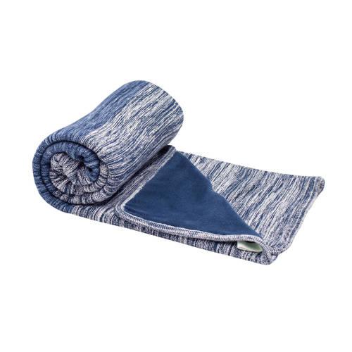 Snoozebaby Dubbellaags Ledikantdeken Indigo Blue 100 x 150 cm