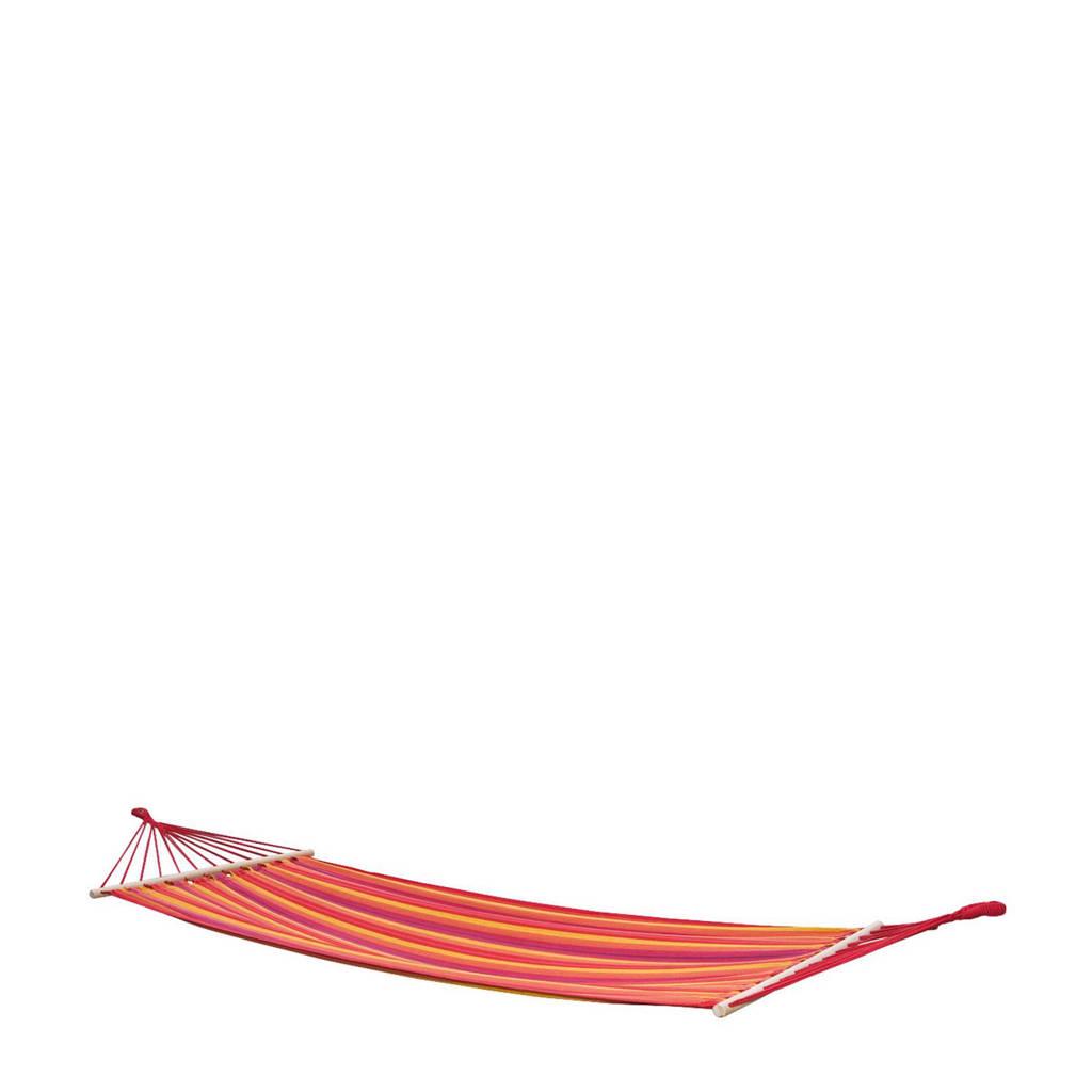 Bo-garden hangmat Samba (230x100 cm), Rood/oranje/geel