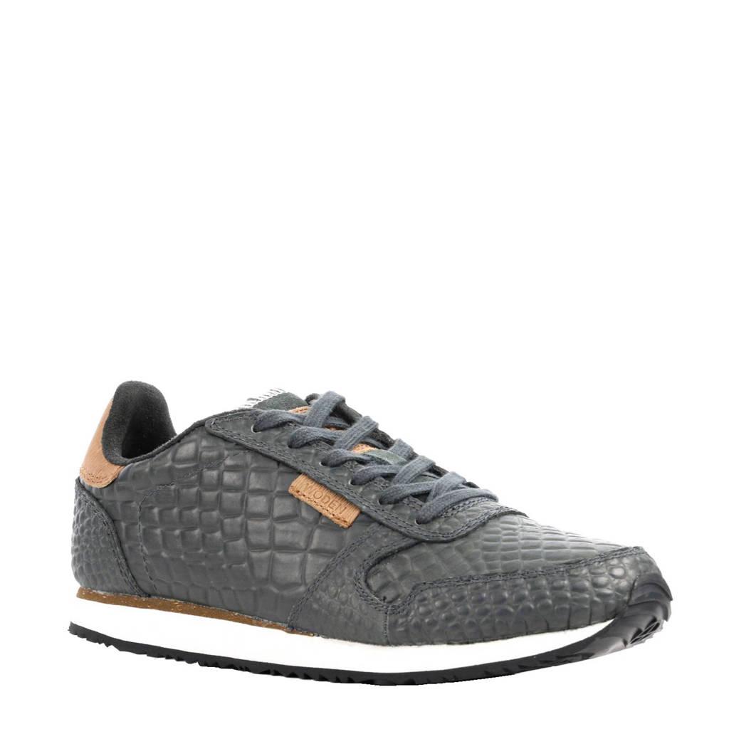 Woden   Ydun sneakers, Lichtgrijs/cognac