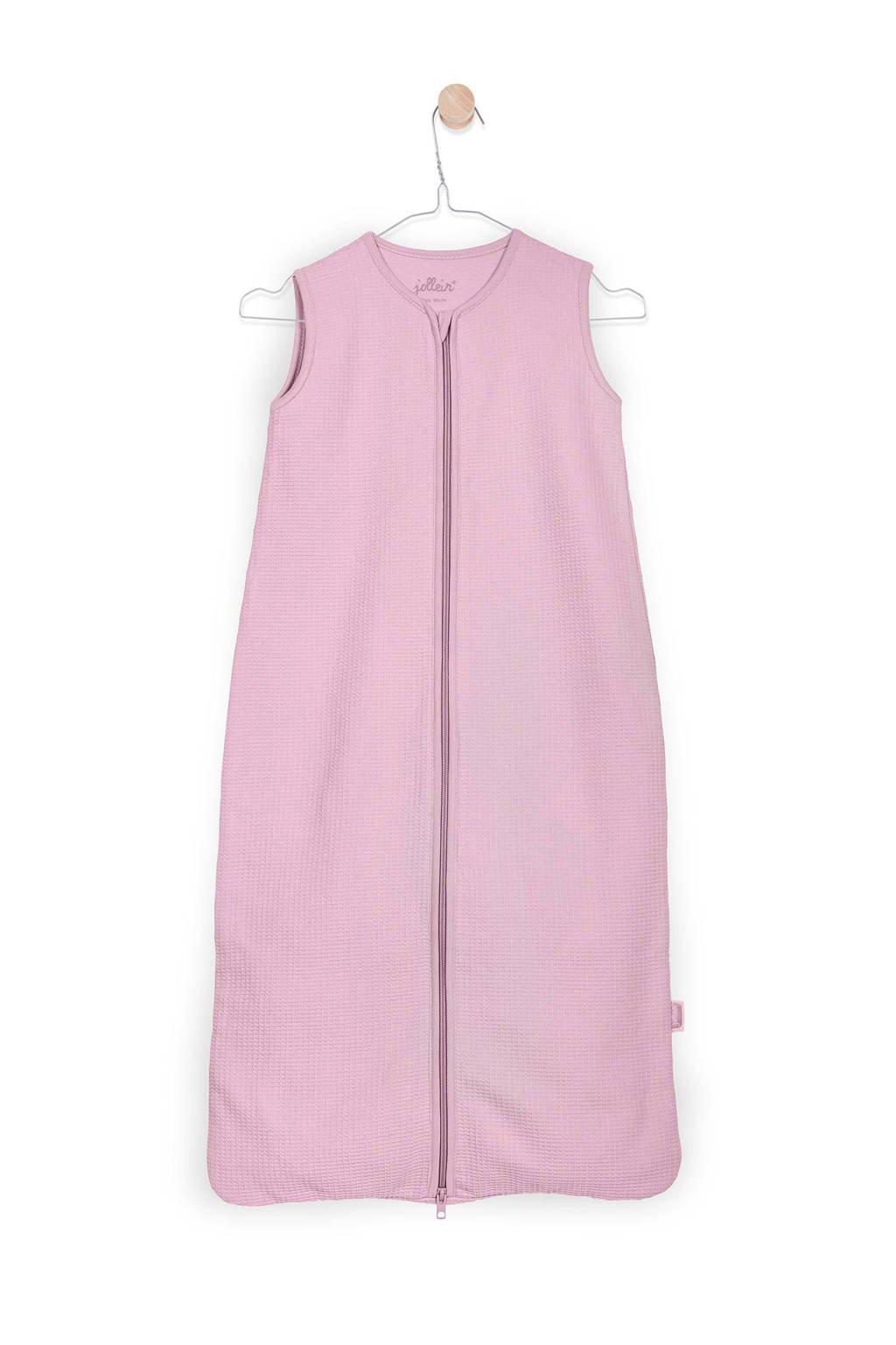 Jollein Mini Waffle zomer baby slaapzak 0-6 mnd roze, Vintage Pink, 70