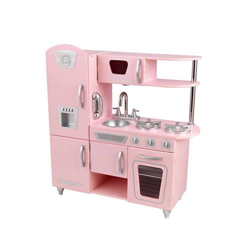 Roze vintage keuken