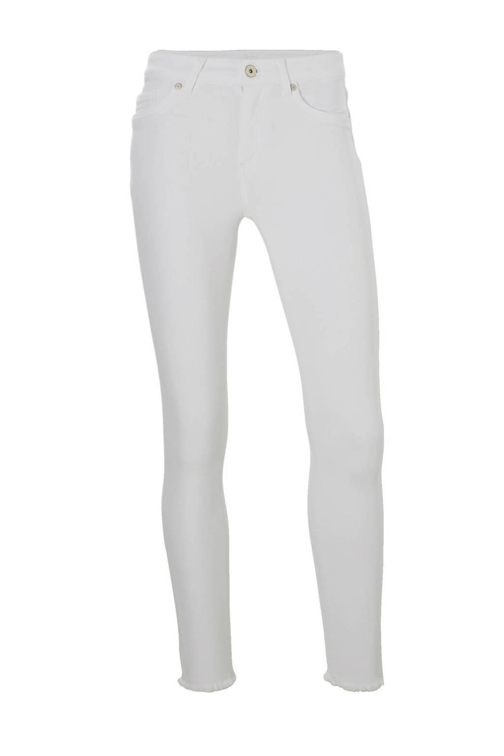 ONLY jeans met gerafelde zoom, Wit