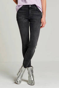 PIECES skinny jeans PCFIVE light grey denim, Grijs