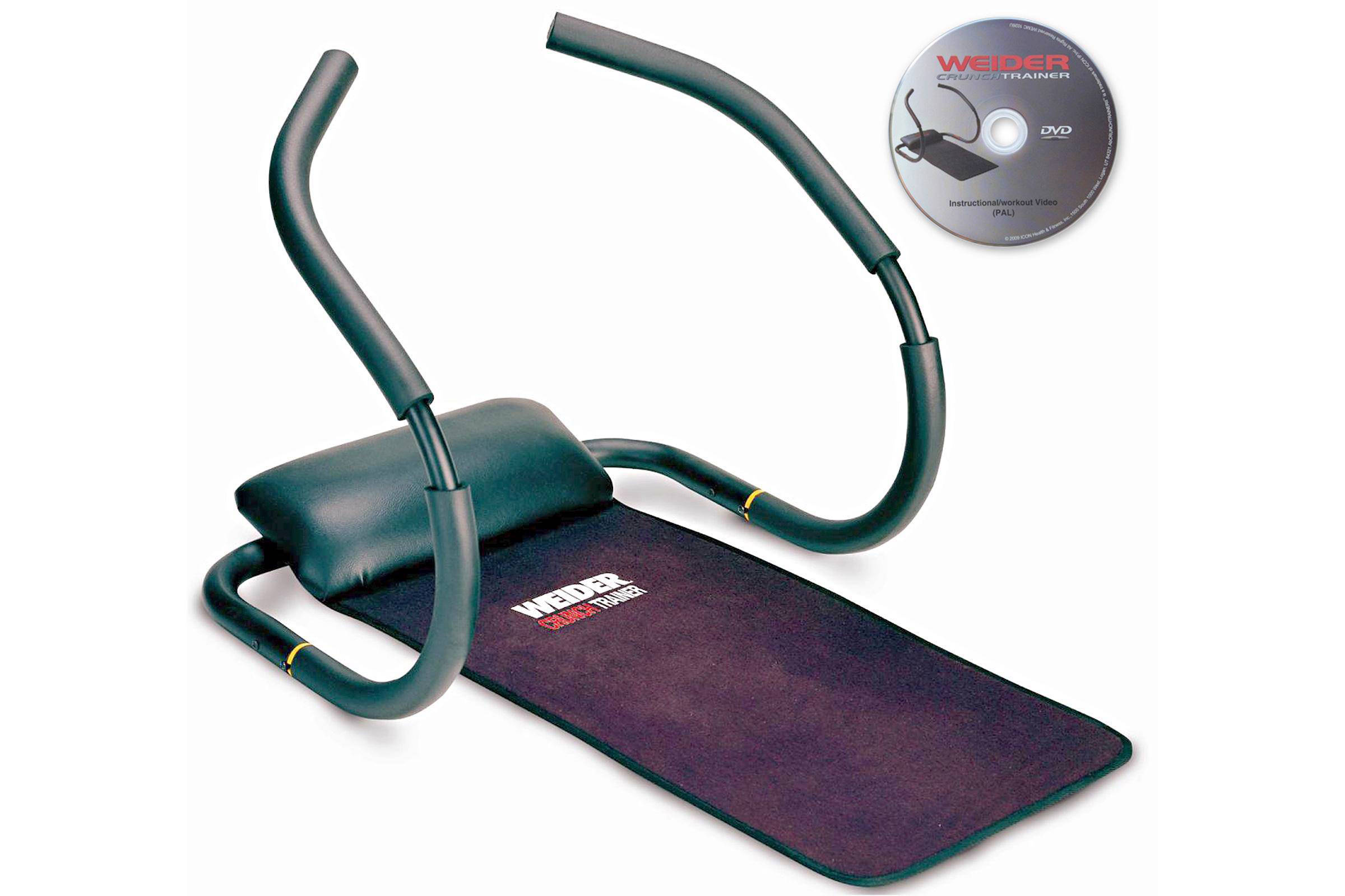 Weider  buikspiertrainer Crunchtrainer + workout DVD