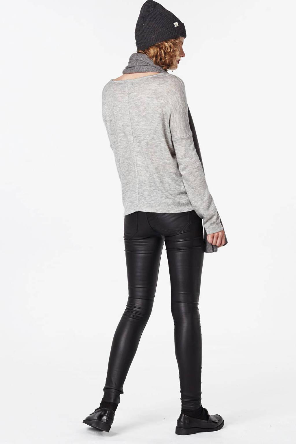 VILA coated broek, Zwart