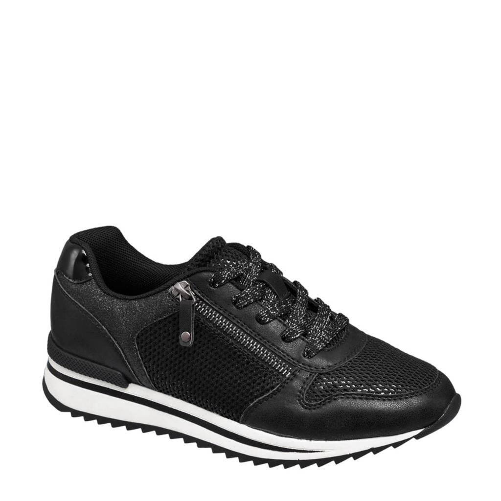 vanHaren Graceland  sneakers, Zwart