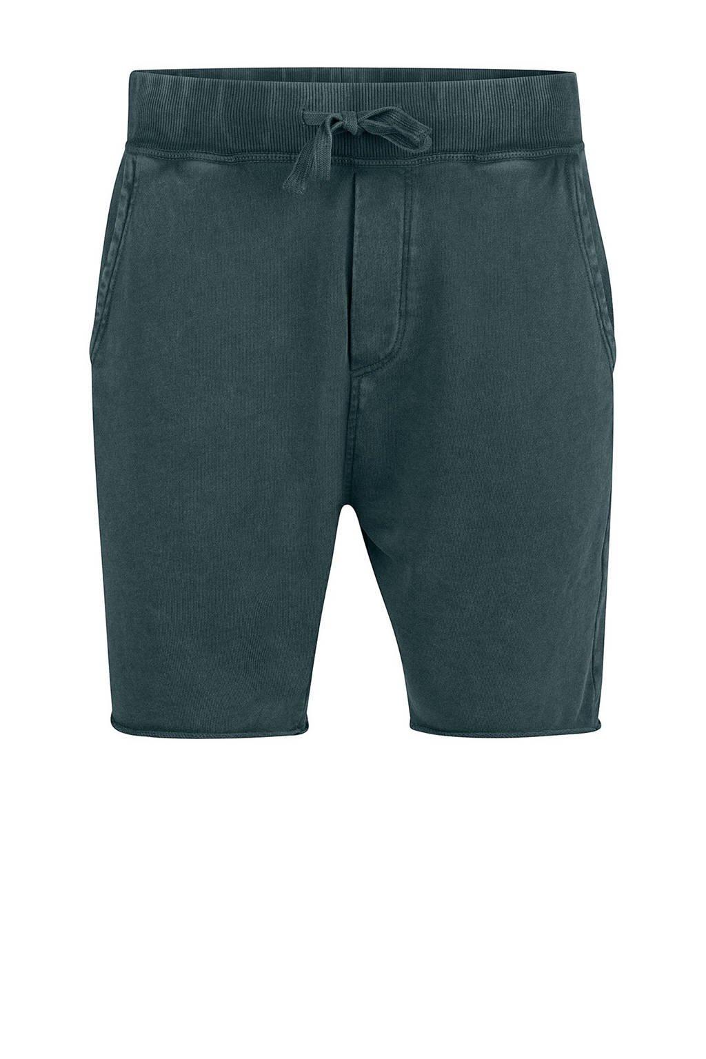 WE Fashion regular fit sweatshort groen, Groen