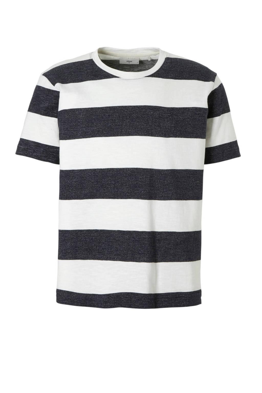 Minimum Asker T-shirt, Donkerblauw/wit