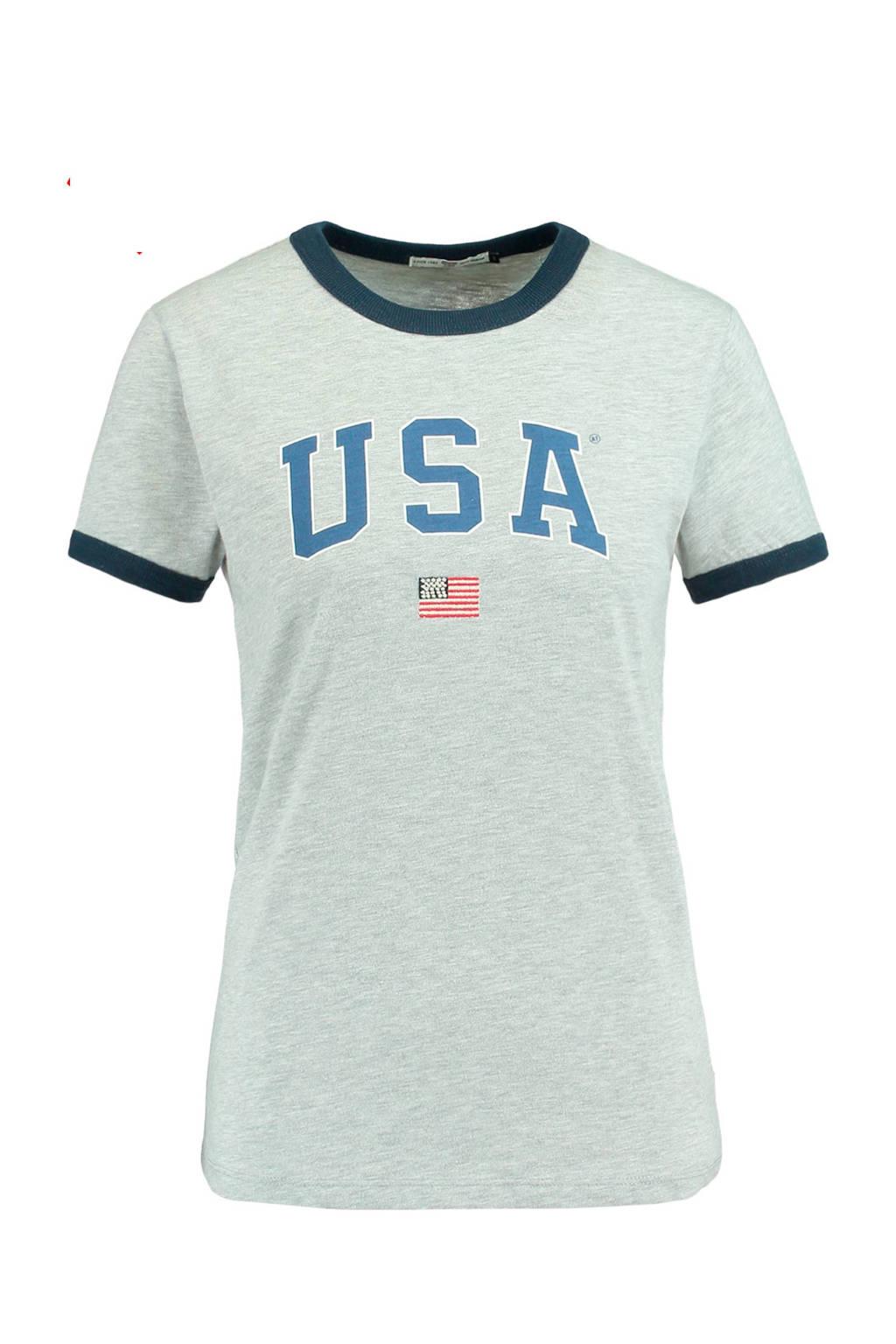 America Today T-shirt, Grijs melange