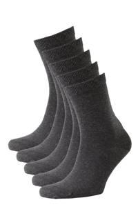 whkmp's own sokken - set van 5 antraciet, Antraciet