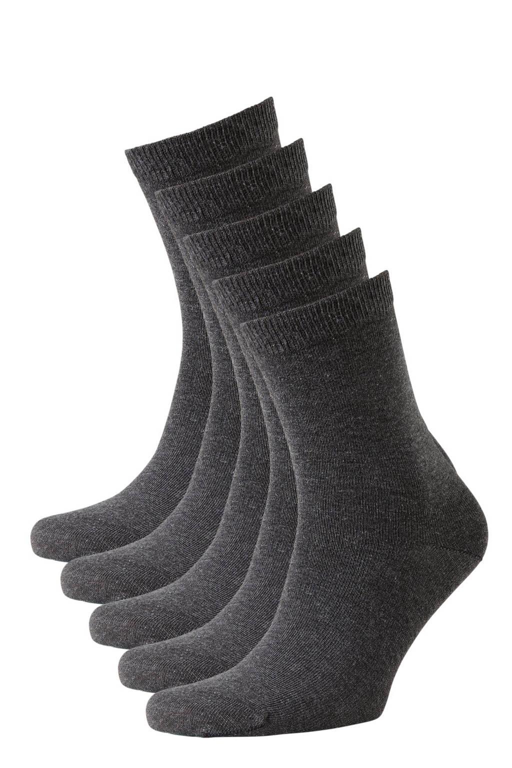 whkmp's own sokken - set van 7 antraciet, Antraciet