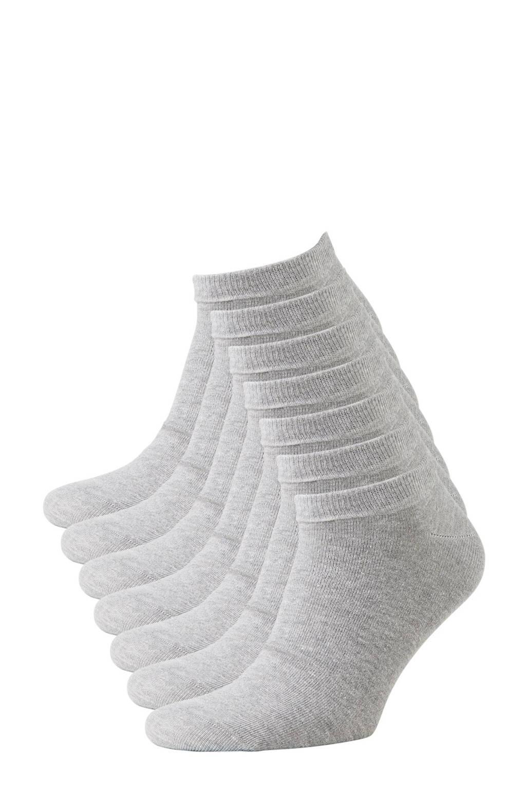 whkmp's own sneakersokken - set van 7 grijs, Light Grey Melange