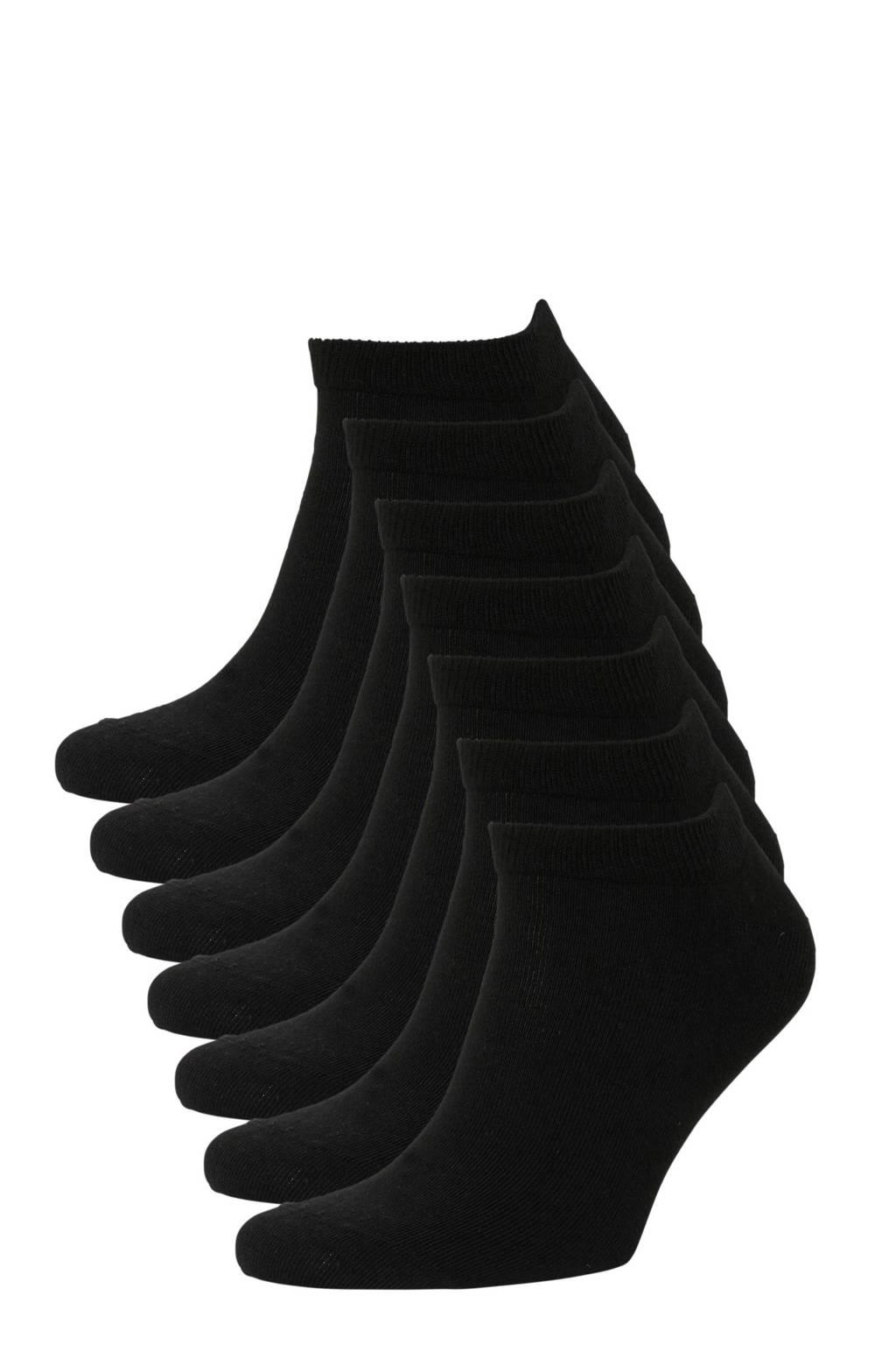 whkmp's own sneakersokken - set van 7 zwart, Black