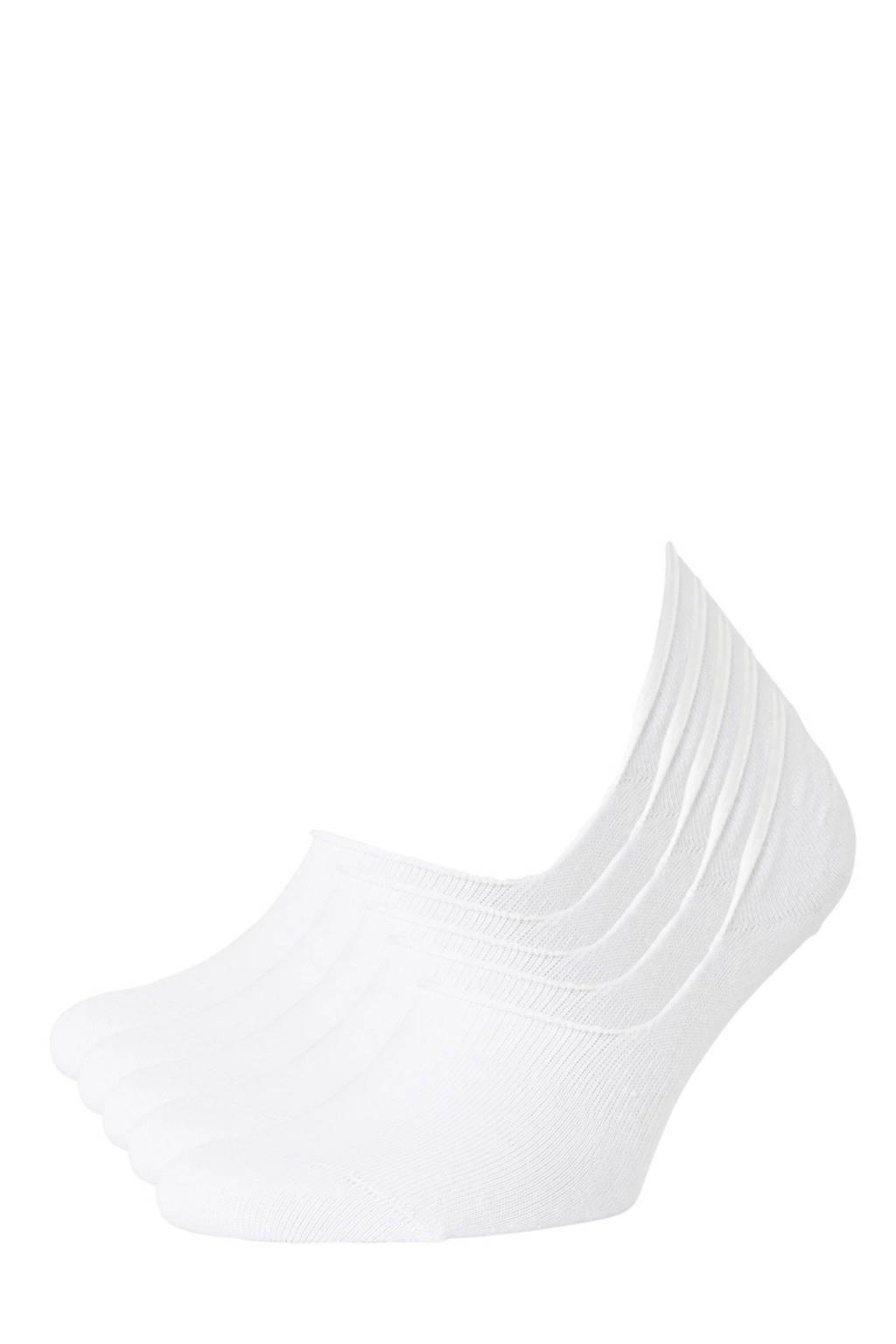 whkmp's own no-show sneakersokken - set van 5 wit, White