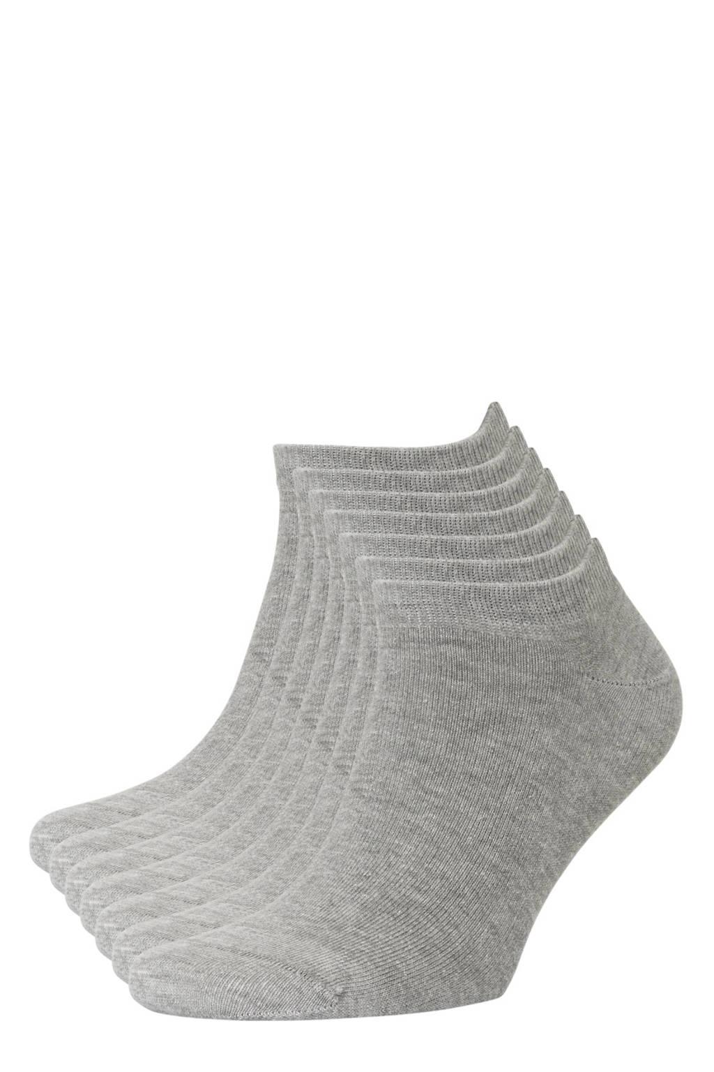 whkmp's own sneakersokken - set van 7 grijs, Grijs melange