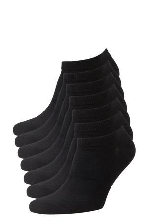 sneakersokken - set van 7 zwart
