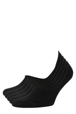no-show sneakersokken - set van 5 zwart
