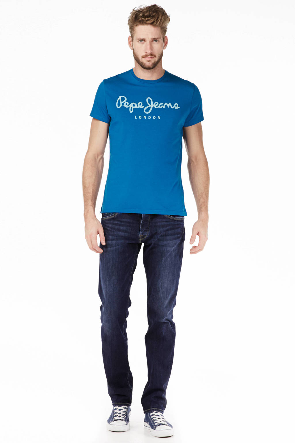 Pepe Jeans regular fit jeans Spike, Donkerblauw