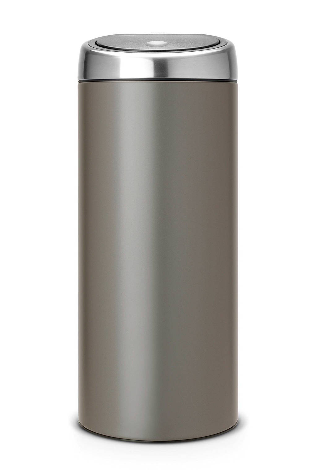 Brabantia Touch Bin 30 Liter Mat Staal.Brabantia Touch Bin 30 Liter Prullenbak Wehkamp
