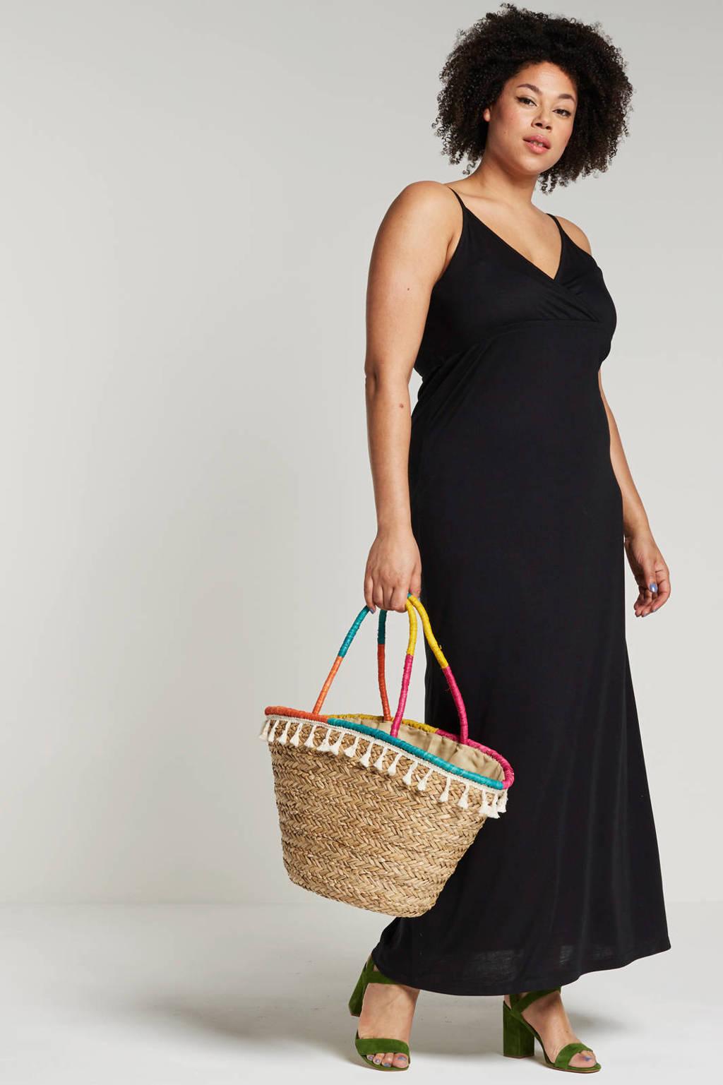 whkmp's beachwave maxi jurk, Zwart