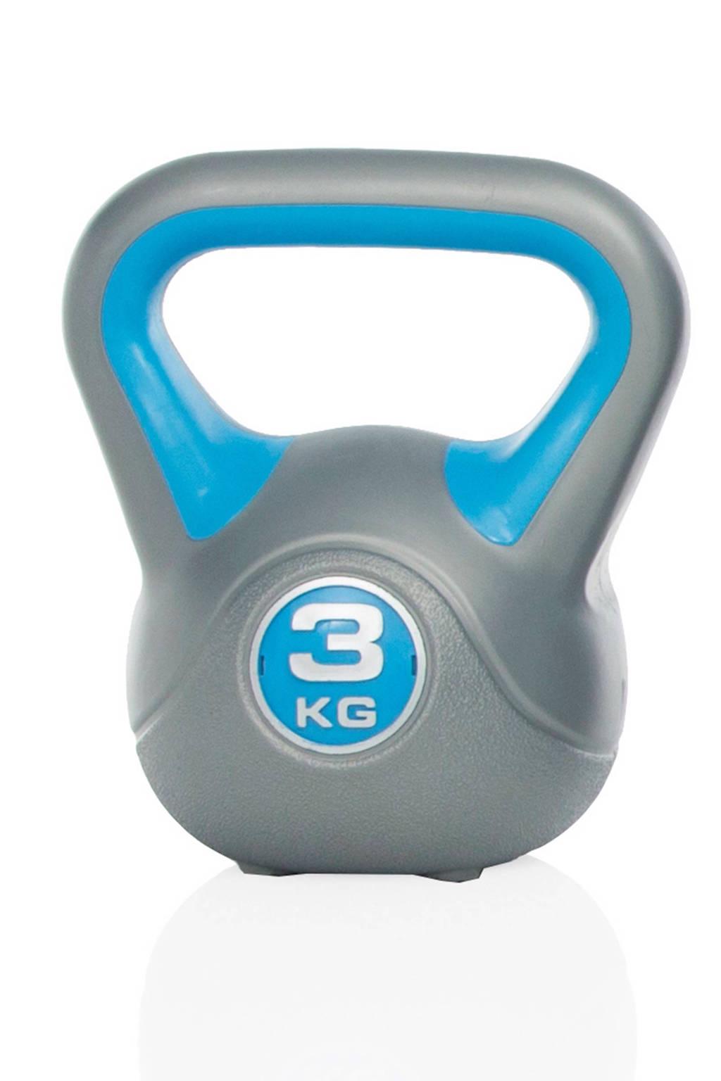 Gymstick  kettlebell (3 kg) + instructievideo's, Blauw