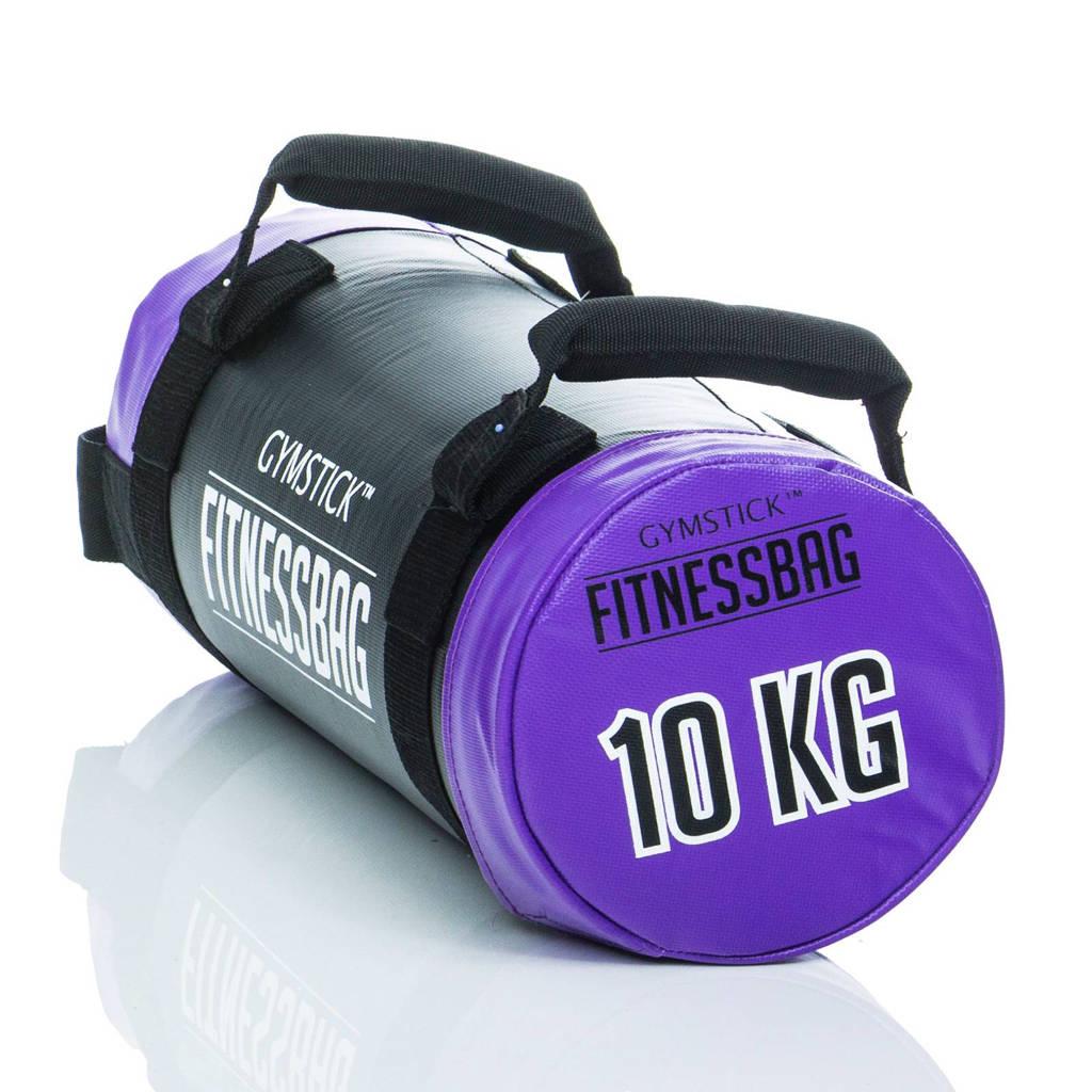 Gymstick sandbag (10 kg) + dvd, Paars/zwart
