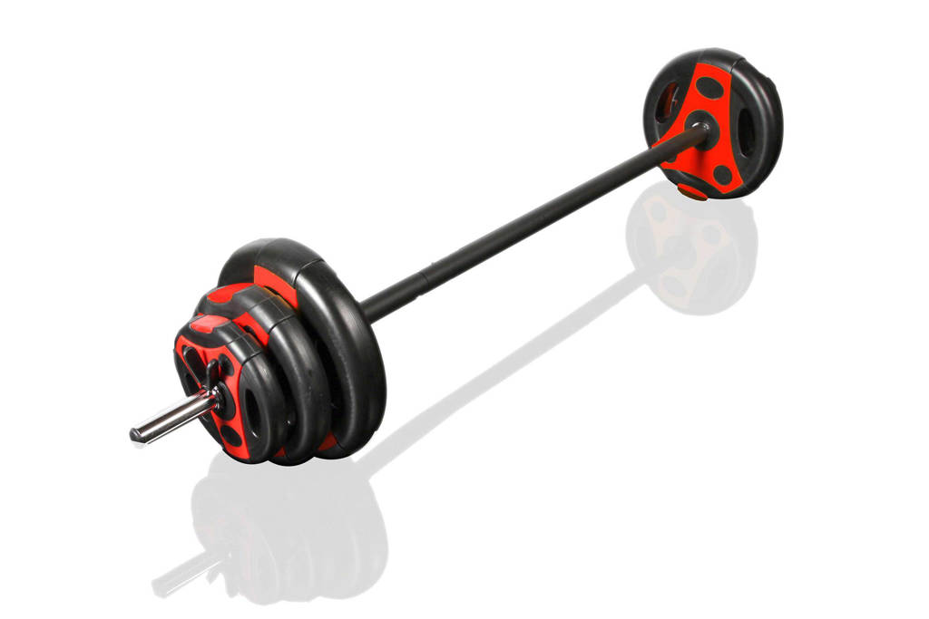 Gymstick pumpset  20 kg met instructievideos, Zwart